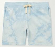 Tie-Dyed Cotton-Jersey Drawstring Shorts