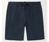 Slim-Fit Linen Drawstring Shorts