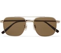 Aviator-Style Gold-Tone and Tortoiseshell Acetate Sunglasses