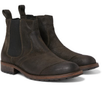 Lancaster Burnished-suede Chelsea Boots