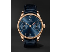 Portugieser Automatic Boutique Edition 42.3mm 18-Karat Gold and Alligator Watch, Ref. No. IW500713