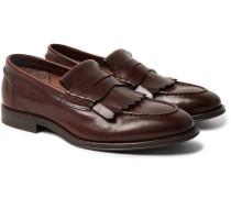 Leather Kiltie Loafers
