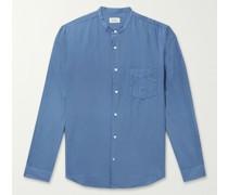 Pat Grandad-Collar Cotton Shirt