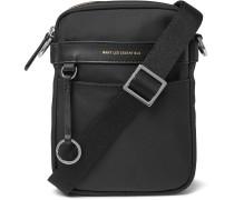 Reagan Leather-Trimmed Nylon Messenger Bag