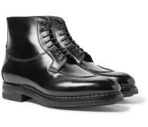Split-toe Leather Boots