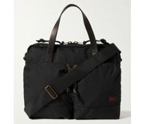 Dryden Leather-Trimmed Nylon Briefcase