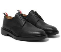 Pebble-grain Leather Derby Shoes