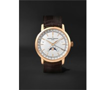 Traditionnelle Complete Calendar Automatic 41mm 18-Karat Pink Gold and Alligator Watch, Ref. No. 4010T/000R-B344