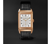 Reverso Classic Large Duoface Small Seconds Hand-Wound 28.3mm 18-Karat Rose Gold and Alligator Watch
