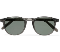 + Culter and Gross Round-Frame Acetate Sunglasses