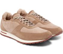 Winter Weekend Walk Shearling-lined Suede Sneakers