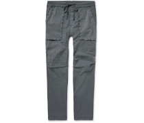 Slim-fit Stretch-cotton Poplin Cargo Trousers