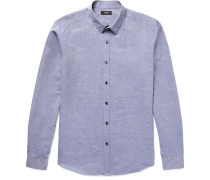 Zack Slim-fit Linen And Cotton-blend Chambray Shirt