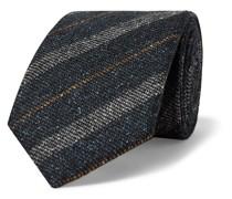 + Drake's 8cm Striped Slub Wool and Silk-Blend Tie
