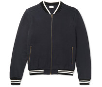 Cotton-jersey Varsity Jacket