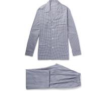 Gingham Brushed-cotton Pyjama Set