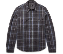 Reversible Thermore-padded Flannel And Shell Shirt Jacket