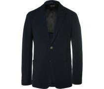 Upton Blue Slim-fit Stretch-wool Seersucker Blazer