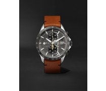 Clifton Club Indian Motorcycles Automatic Chronograph 44mm Stainless Steel and Leather Watch, Ref. No. M0A10402