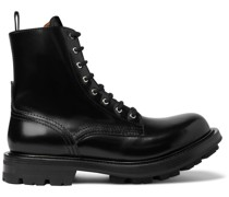 Spazzolato Leather Boots