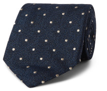 8cm Polka-dot Silk And Wool-blend Tie