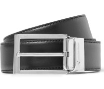 3cm Sartoria Black And Brown Reversible Leather Belt