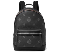 Explorer Logo-Print Leather Backpack