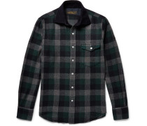 Hopkins Checked Wool-blend Flannel Overshirt