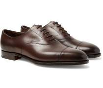 Chelsea Cap-Toe Burnished-Leather Oxford Shoes