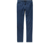 Livigno Slim-fit Cotton And Silk-blend Denim Jeans