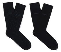 Two-pack Polka-dot Mercerised Cotton-blend Socks
