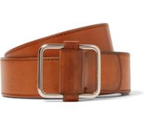 4cm Tan Lorenzo Leather Belt