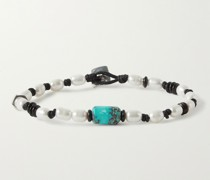 Catalina Sterling Silver and Cord Multi-Stone Bracelet