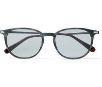 Round-frame Acetate And Ruthenium Sunglasses