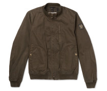 Pendine Waxed Stretch-cotton Canvas Bomber Jacket