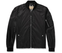 Slim-fit Nylon Bomber Jacket