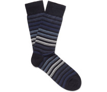 Striped Wool-blend Socks