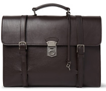 Siracusa Grained-leather Briefcase