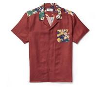 Malick Camp-Collar Printed Cotton and Silk-Blend Shirt