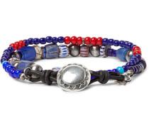 Glass Bead Sterling Silver Bracelet