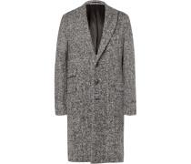 Herringbone Brushed Virgin Wool Coat