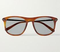 D-Frame Acetate and Gunmetal-Tone Sunglasses