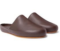 Full-Grain Leather Slippers
