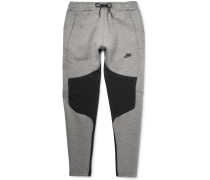 Tapered Panelled Cotton-blend Tech Fleece Sweatpants