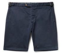 Cotton-Blend Twill Chino Shorts