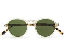 Bluma Sun Round-Frame Tortoiseshell Acetate Sunglasses