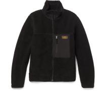 Shell-trimmed Fleece Zip-up Jacket