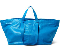 Arena Creased-leather Holdall