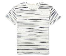 Rain Striped Slub Cotton-jersey T-shirt