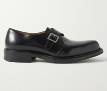 Peter Leather Monk-Strap Shoes
